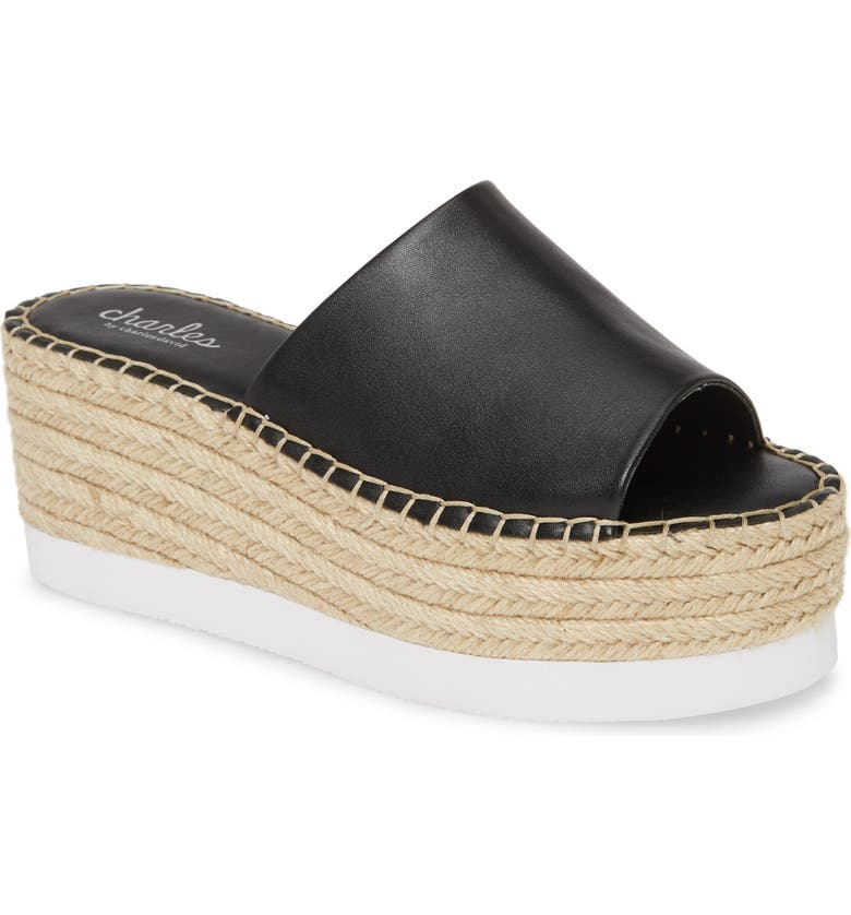 CHARLES BY CHARLES DAVID Sporty Platform Slide Sandal, Main, color, 001