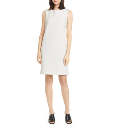 Eileen Fisher Jacquard Sleeveless Shift Dress, Ivory
