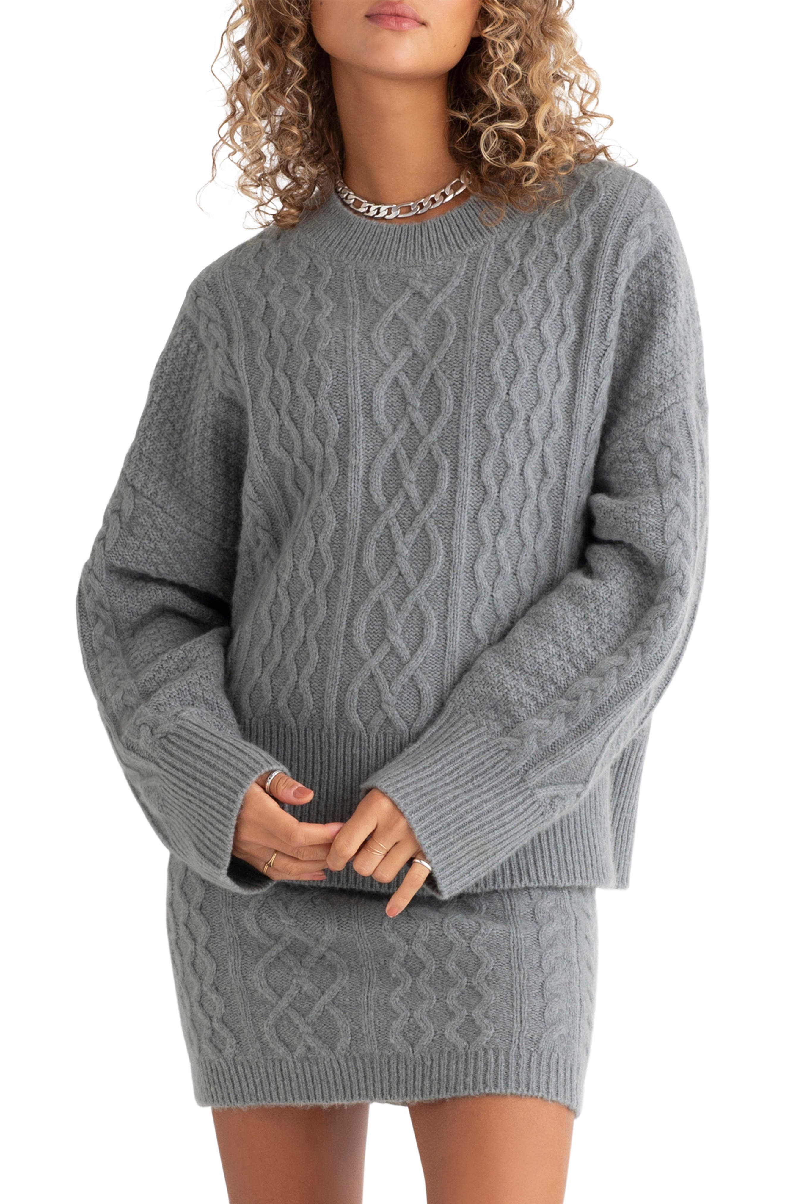 Oversize Cable Knit Sweater