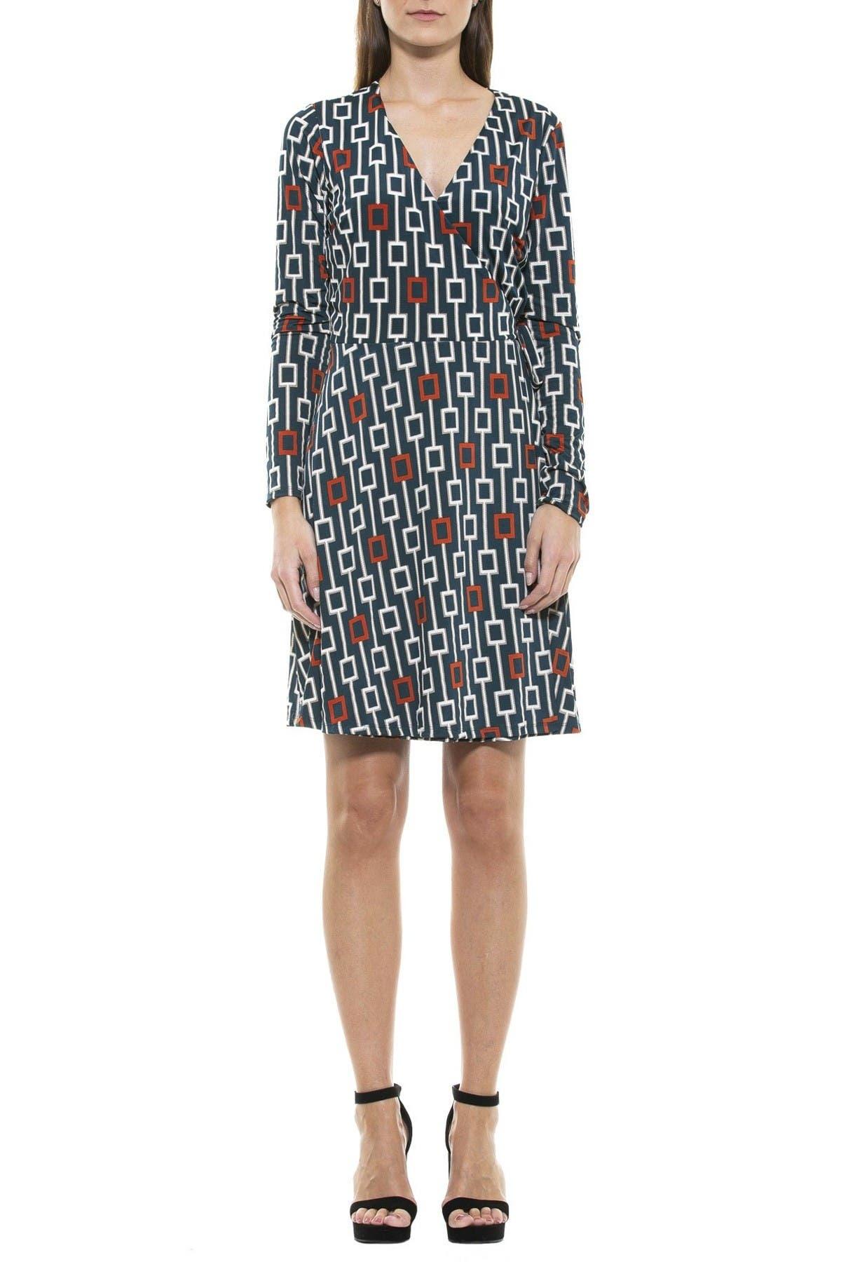 Image of Alexia Admor Geo Printed Wrap Dress