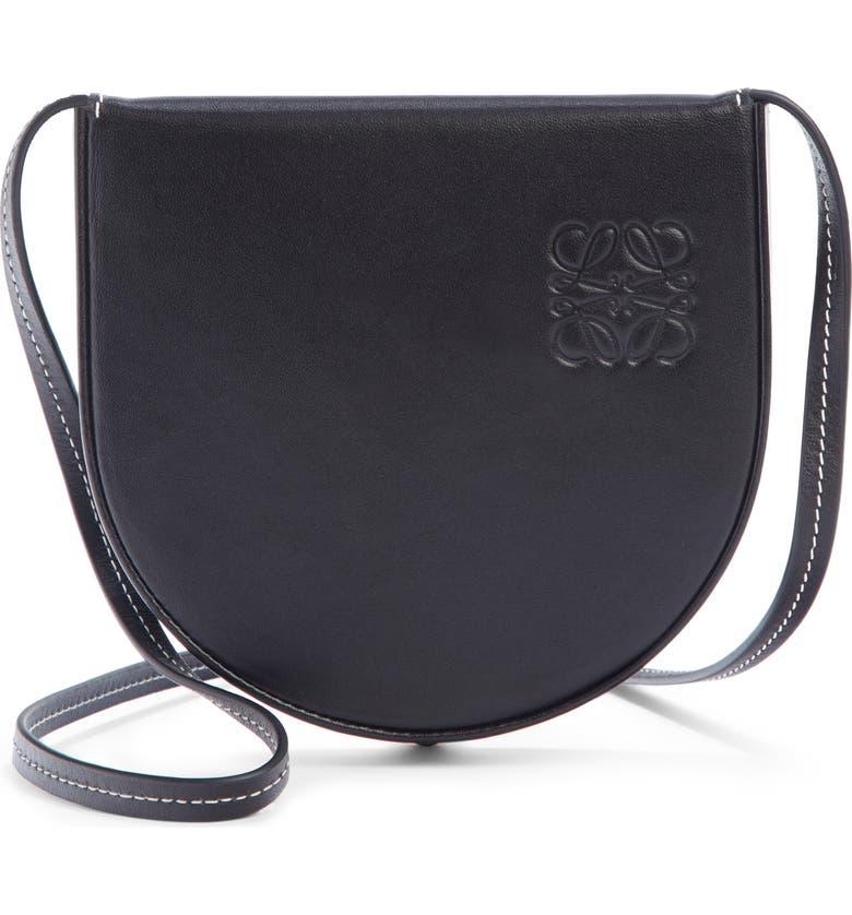 LOEWE Mini Heel Leather Bag, Main, color, BLACK