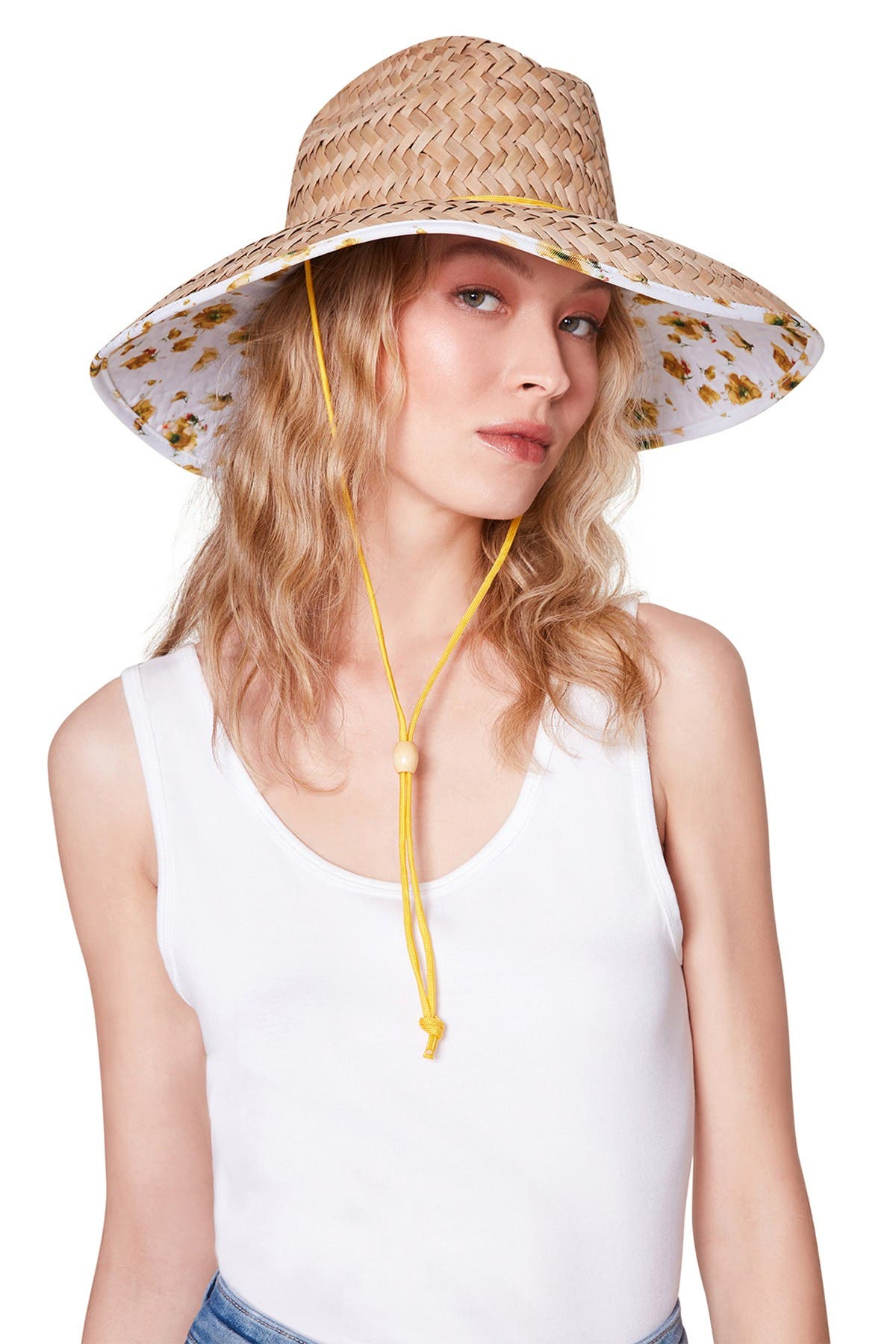 Image of Steve Madden Woven Paper Straw Sun Hat