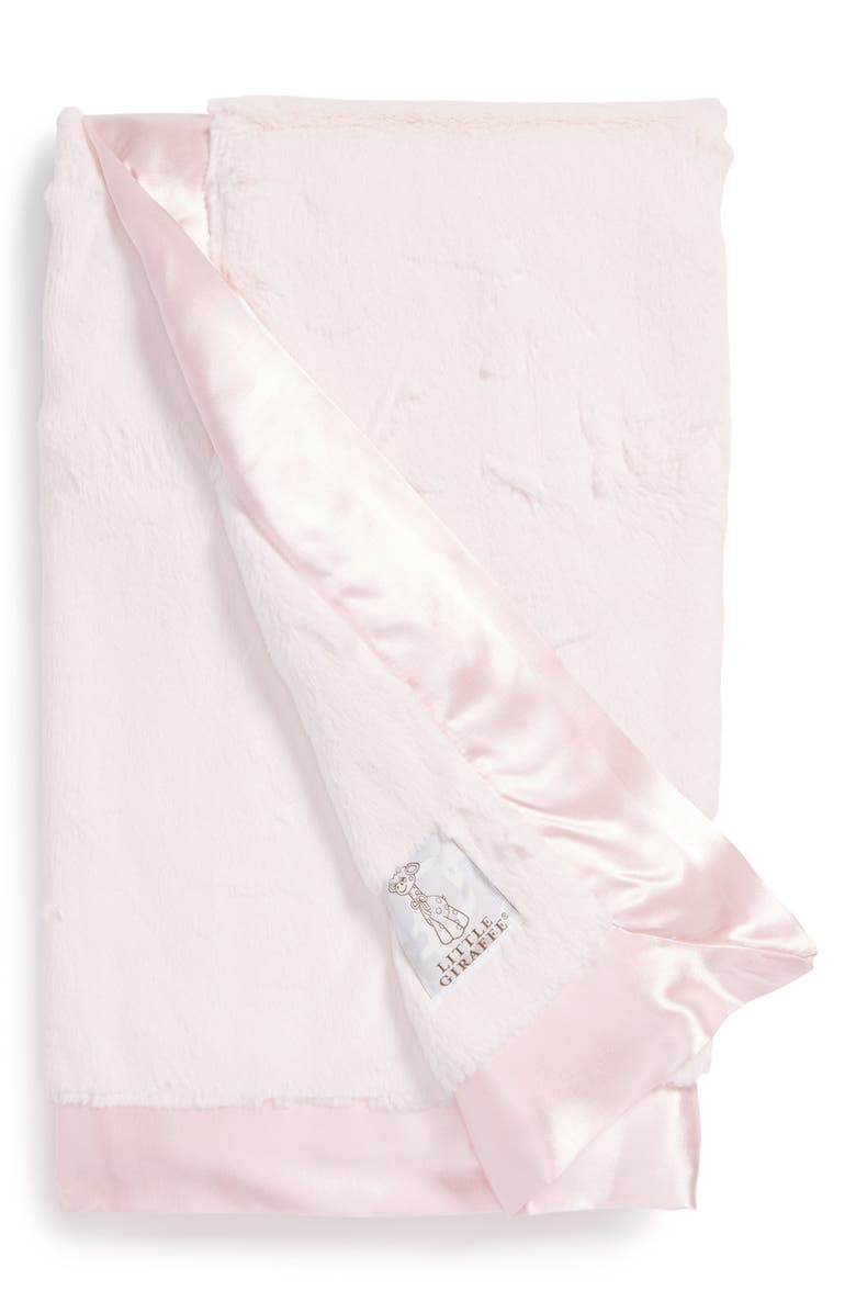 LITTLE GIRAFFE Luxe Baby Blanket, Main, color, PINK