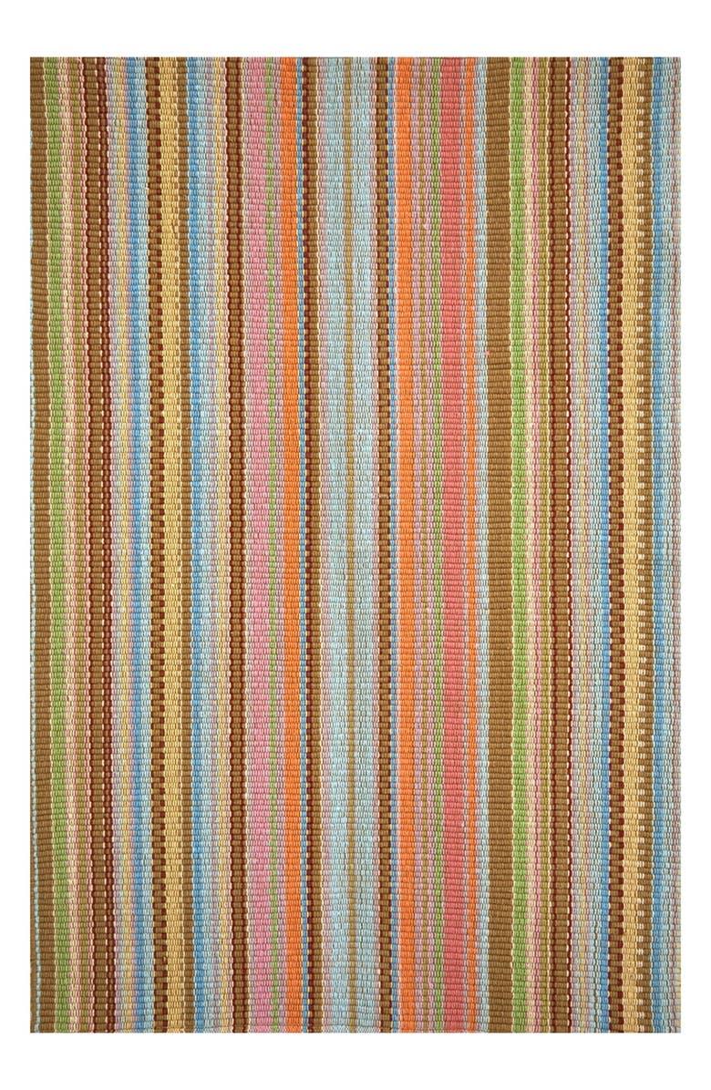 DASH & ALBERT 'Zanzibar' Ticking Stripe Rug, Main, color, BLUE/ MULTI