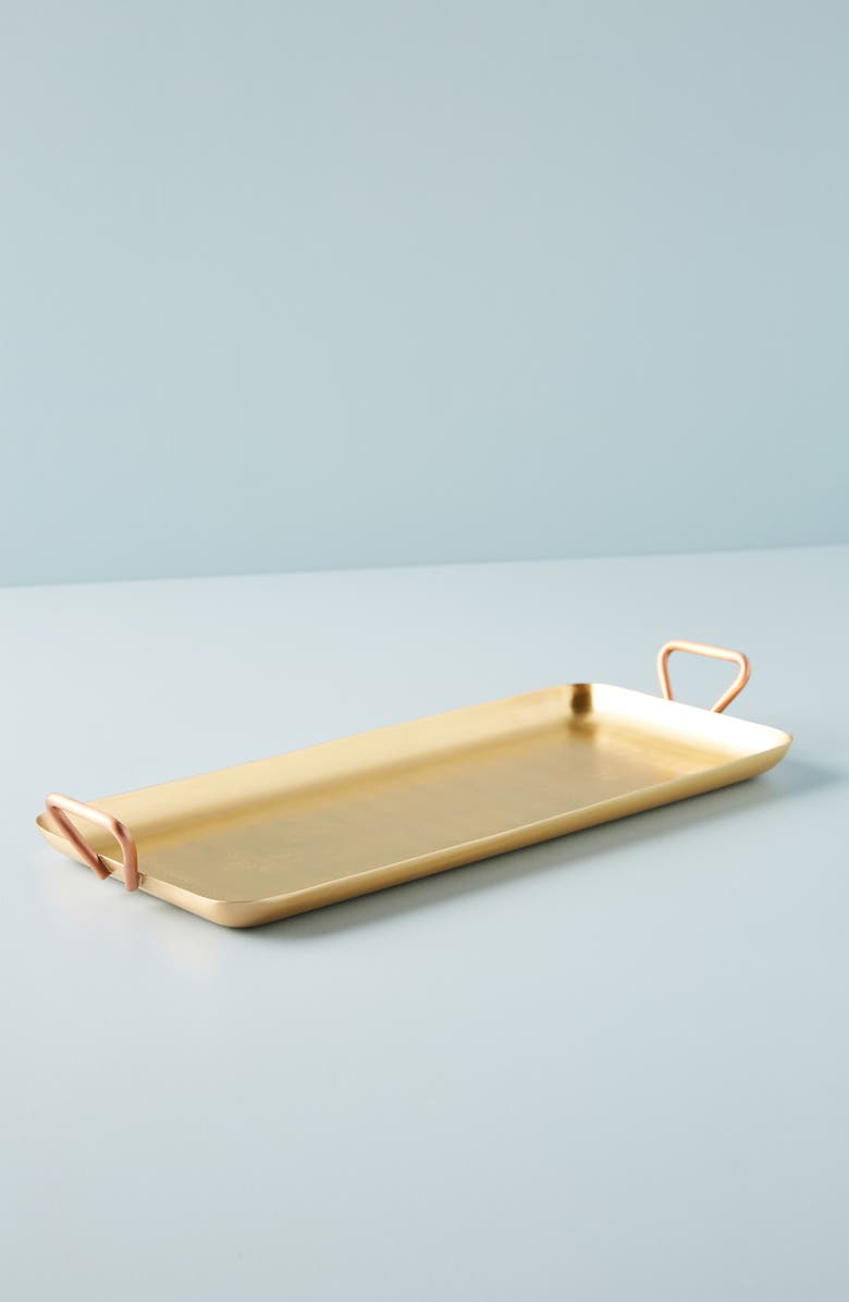 ANTHROPOLOGIE Luna Serving Tray, Main, color, COMBO A- SILVER/ GOLD