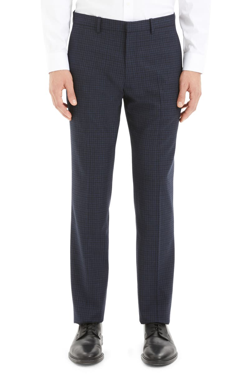 THEORY Mayer Thur Check Wool Dress Pants, Main, color, ECLIPSE CHECK