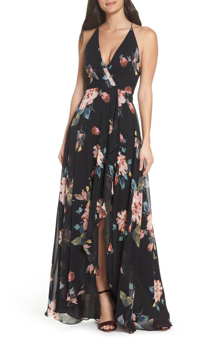 JENNY YOO Farrah Halter Gown, Main, color, 002
