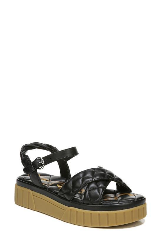 Sam Edelman Women's Gavril Braided Crisscross Sandals Women's Shoes In Black Leather