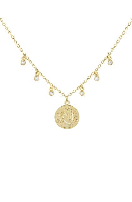 Image of Adina's Jewels Bezel Coin Pendant Necklace