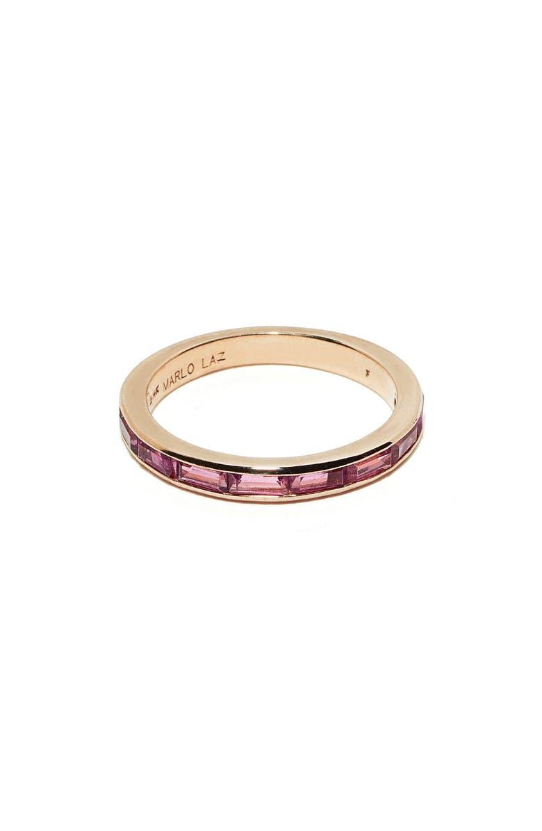 MARLO LAZ Pink Tourmaline Baguette Ring, Main, color, 710