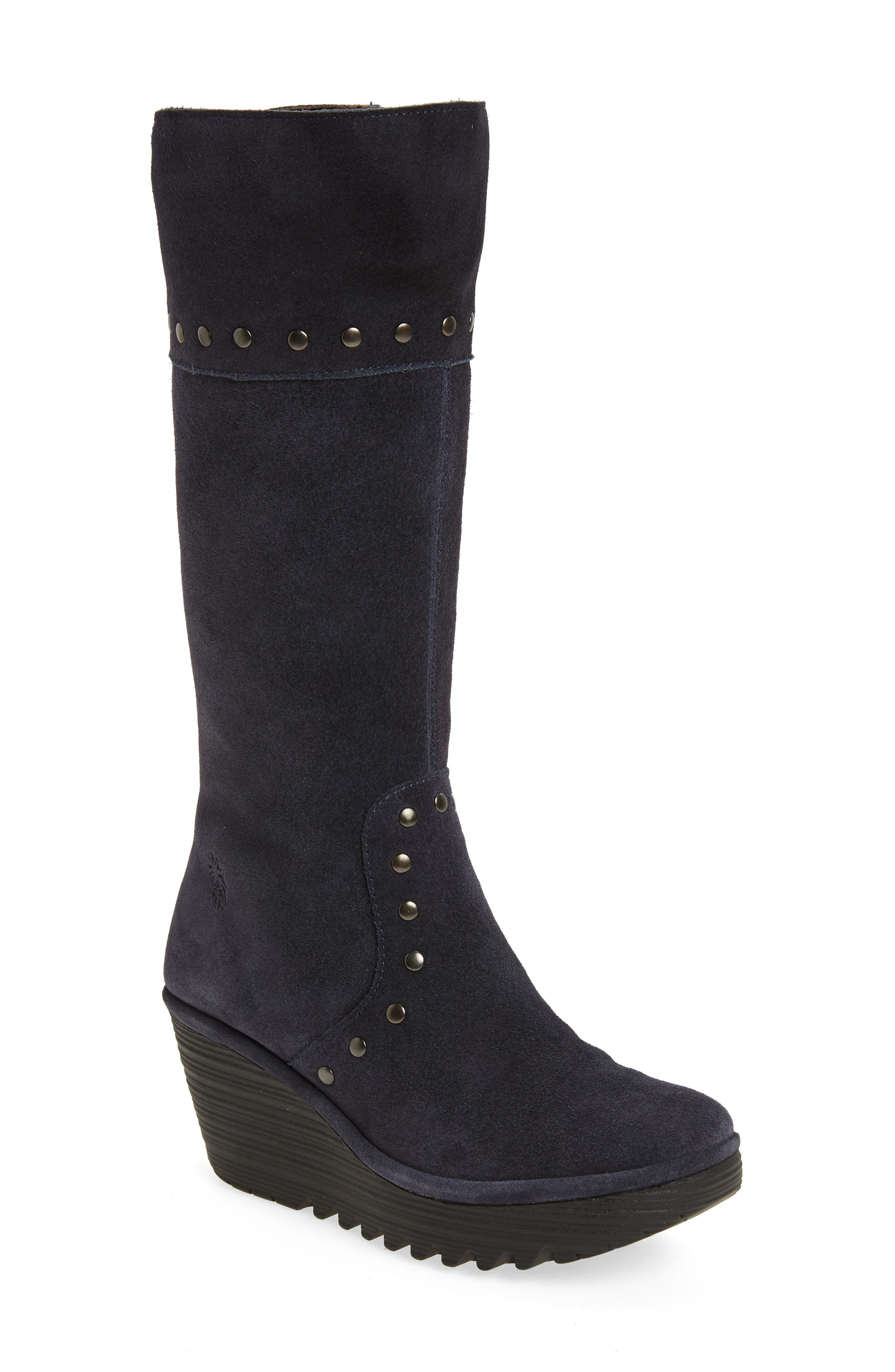 Fly London Yota Knee High Boot, Blue