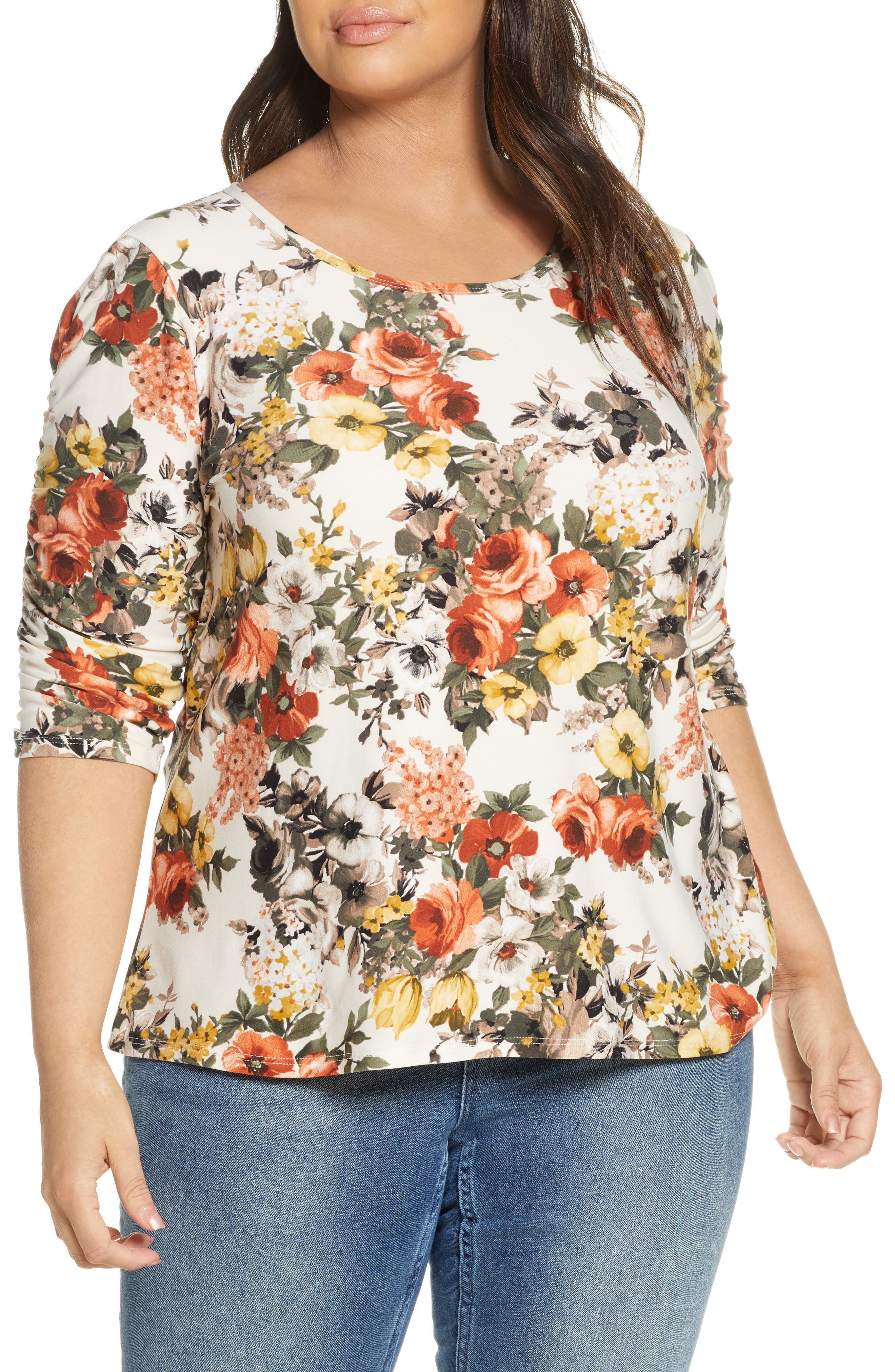 Reverie Ruched Sleeve Top