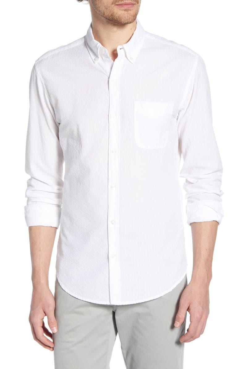 BONOBOS Summer Weight Seersucker Slim Fit Shirt, Main, color, SERSUCKER WT
