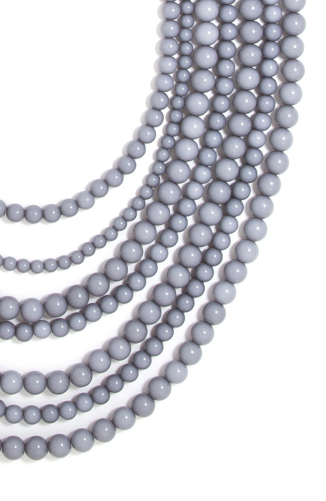 ,                             'Bold' Multistrand Beaded Statement Necklace,                             Alternate thumbnail 5, color,                             020