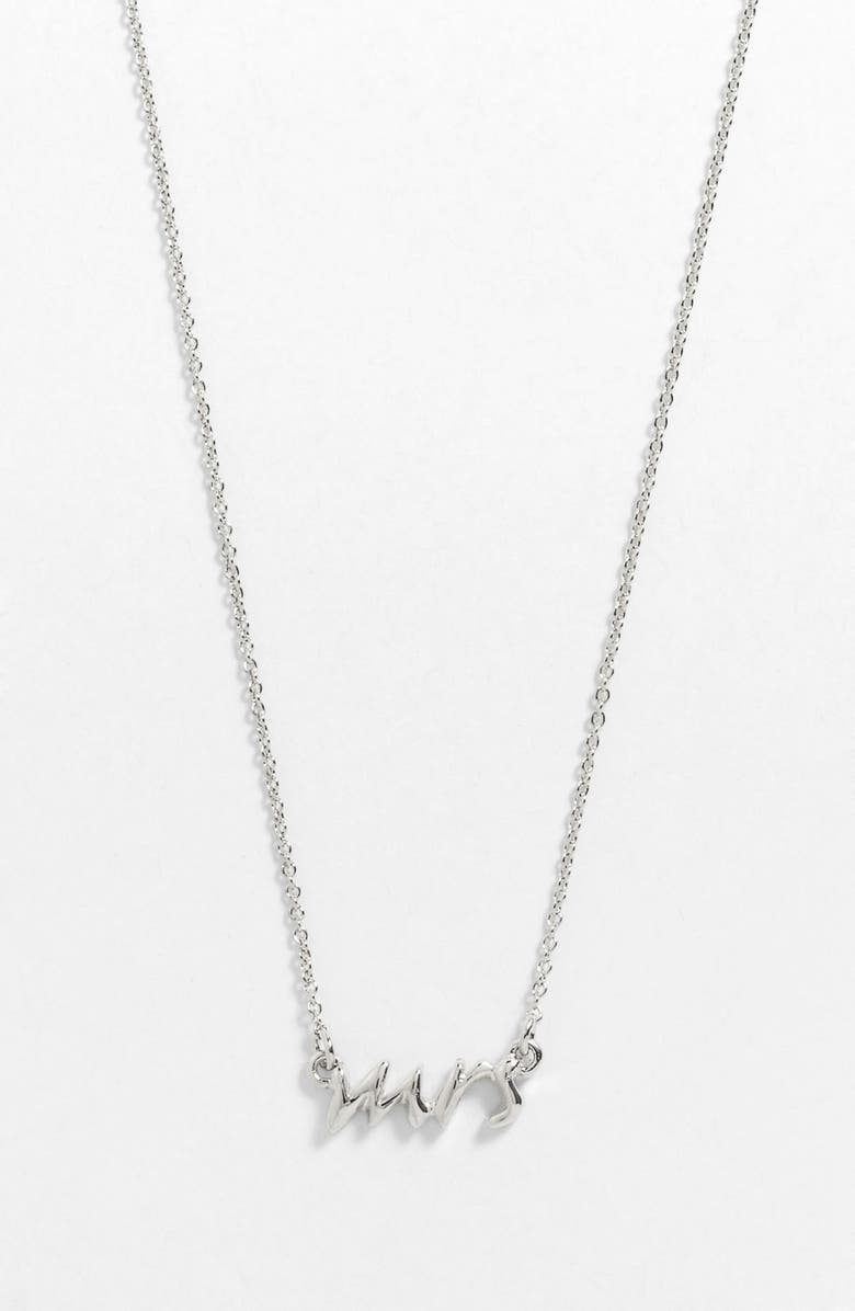 KATE SPADE NEW YORK 'say yes - mrs' necklace, Main, color, SILVER