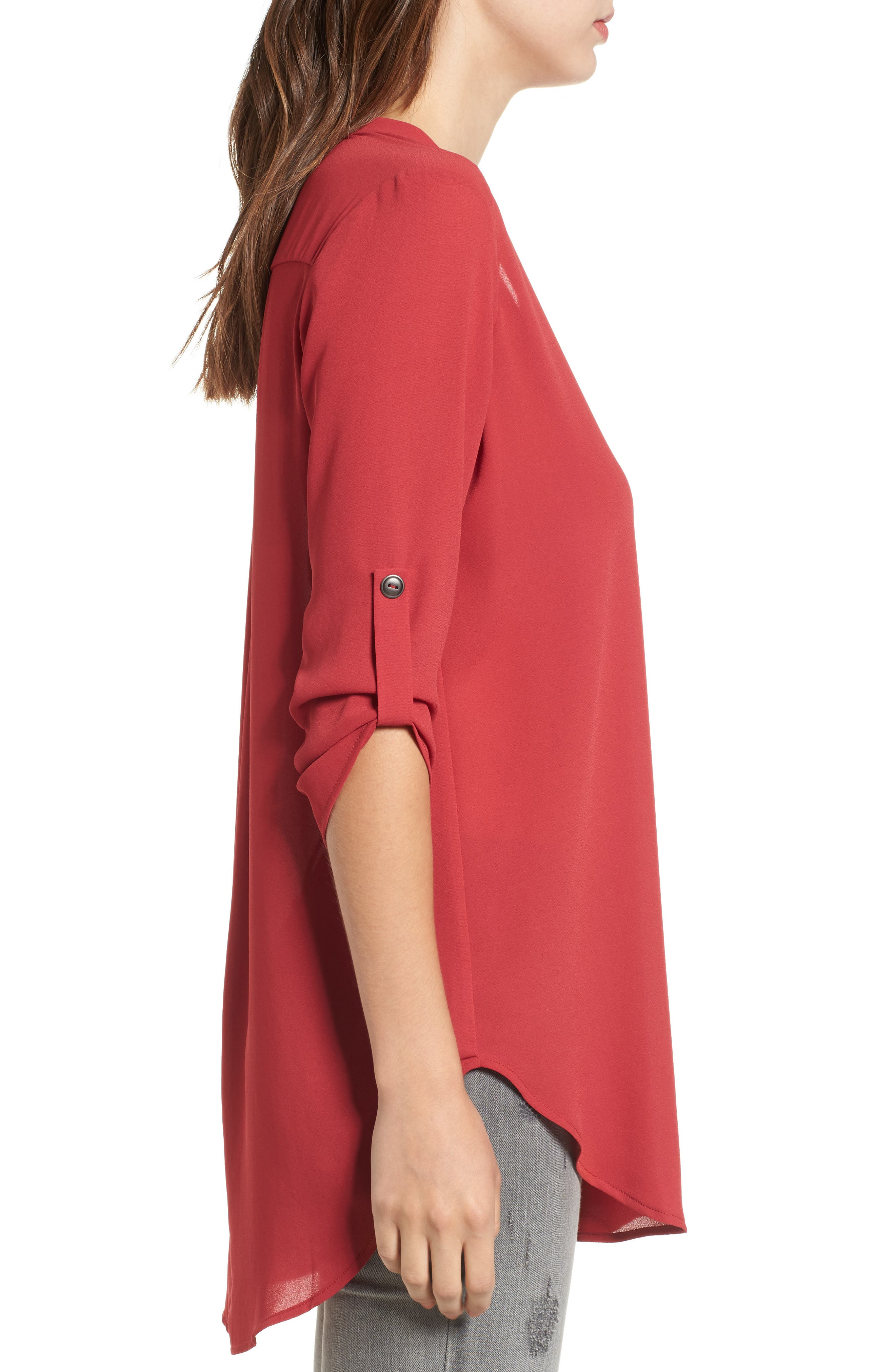 ,                             Perfect Roll Tab Sleeve Tunic,                             Alternate thumbnail 444, color,                             933