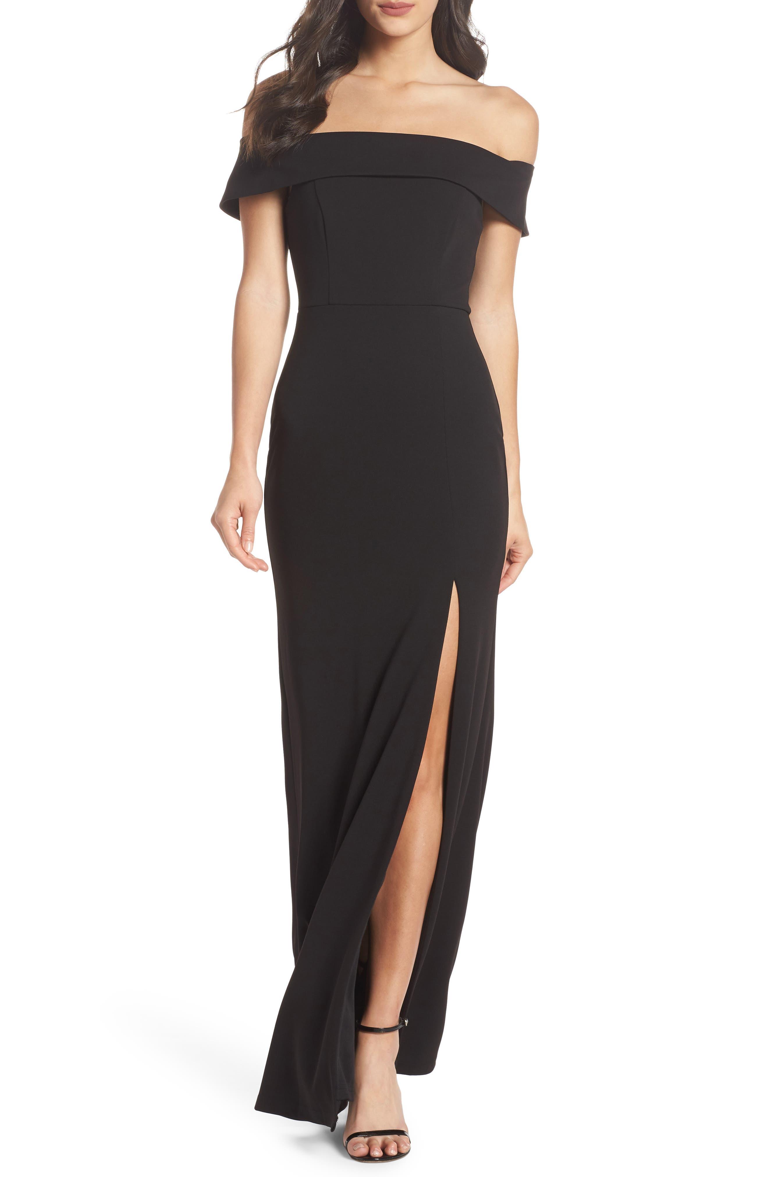 1950s Dresses, 50s Dresses | 1950s Style Dresses Womens Lulus Off The Shoulder Mermaid Gown Size X-Large - Black $94.00 AT vintagedancer.com