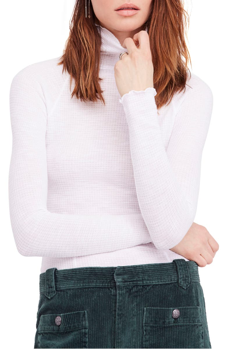 FREE PEOPLE Skyline Thermal Top, Main, color, WHITE