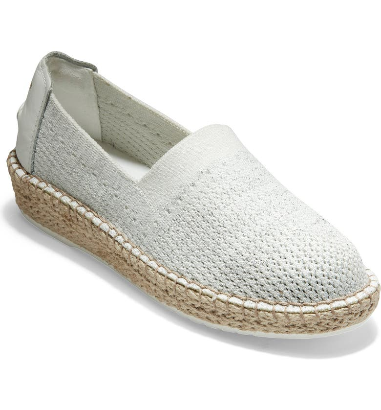 COLE HAAN Cloudfeel Stitchlite Espadrille, Main, color, WHITE CHALK FABRIC