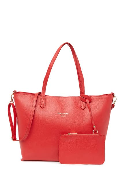 Image of Persaman New York Constance Large Leather Tote