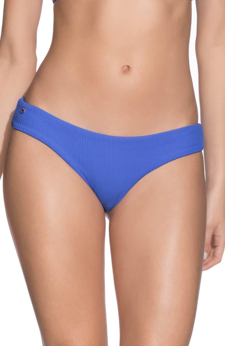 MAAJI Azure Sublime Reversible Swim Bottoms, Main, color, AZURE BLUE RIB