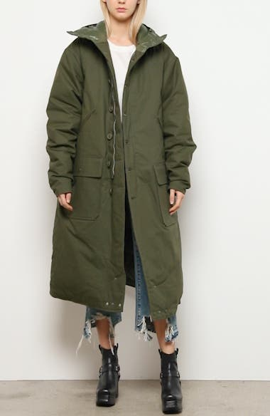 Long Hooded Down Puffer Coat, video thumbnail