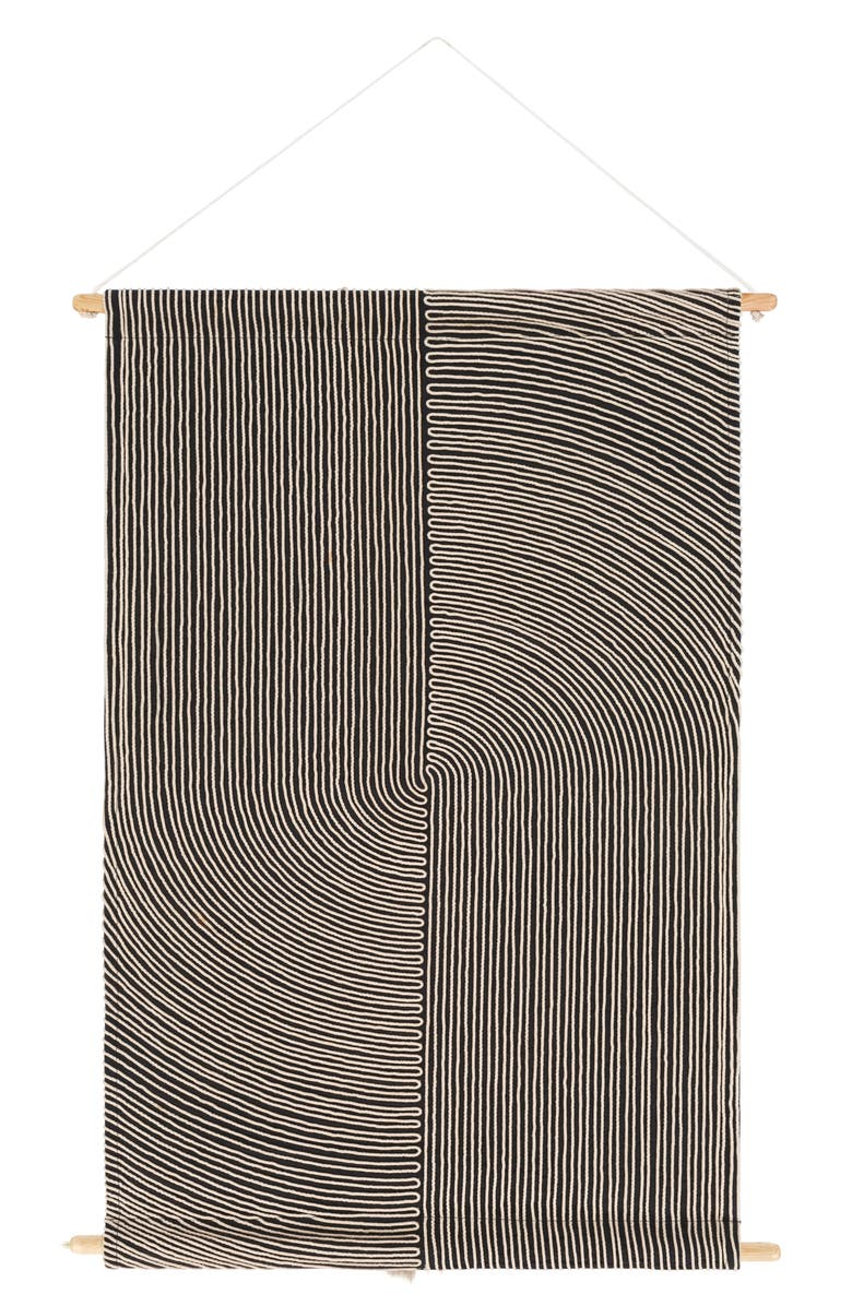 SURYA HOME Pax Wall Hanging, Main, color, BLACK