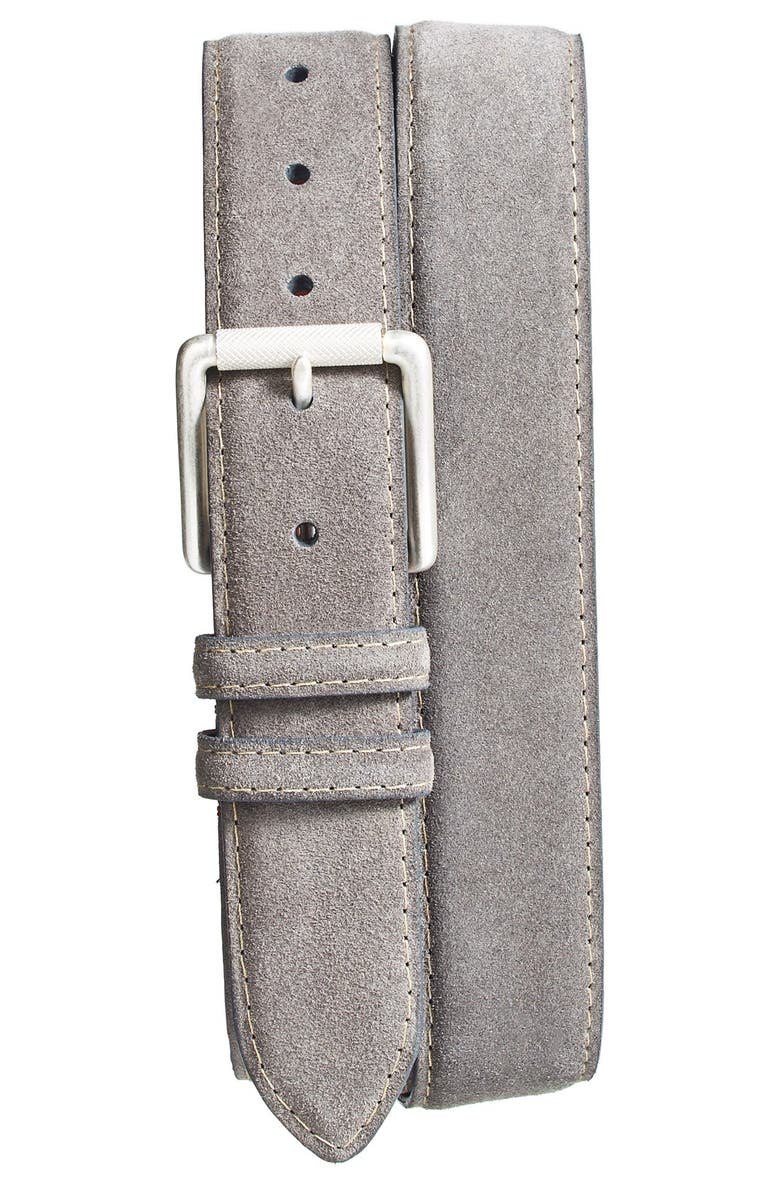 TORINO Suede Belt, Main, color, SLATE