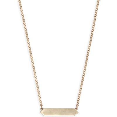 Allsaints Two-Tone Geometric Bar Pendant Necklace