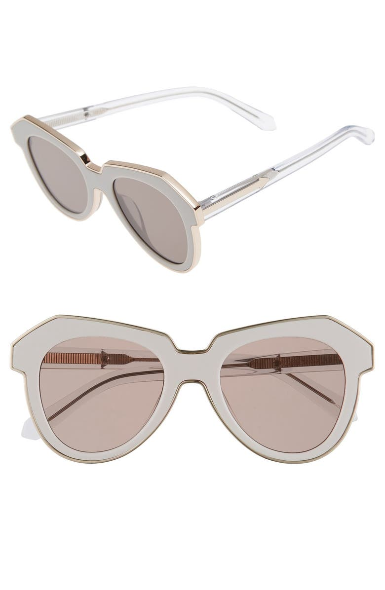 KAREN WALKER 'One Astronaut - Arrowed by Karen' 49mm Sunglasses, Main, color, 100