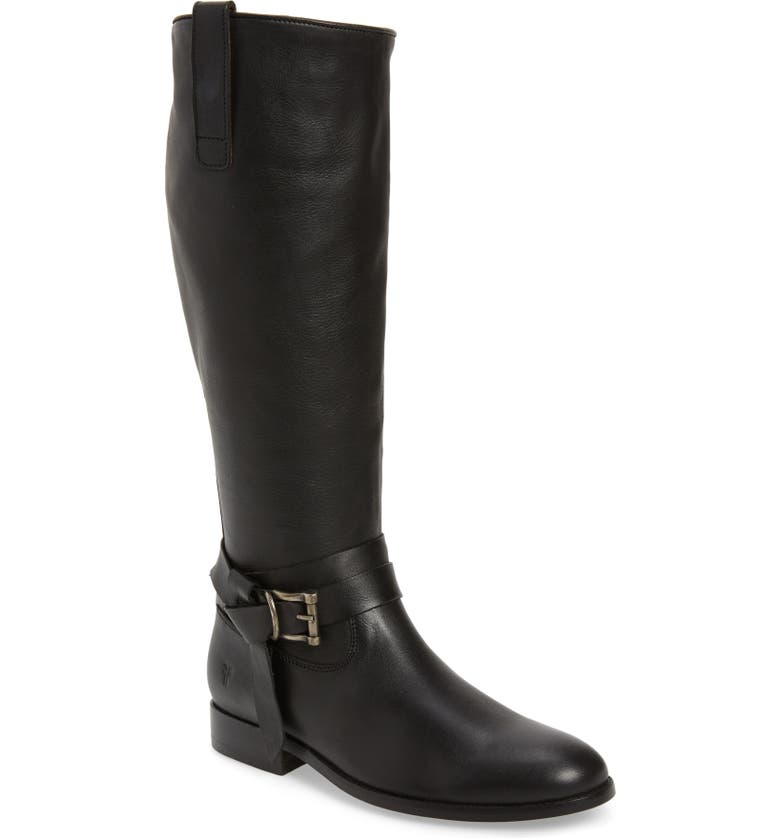 FRYE 'Melissa Knotted' Tall Boot, Main, color, BLACK