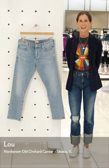 Emerson High Waist Slim Boyfriend Jeans, sales video thumbnail