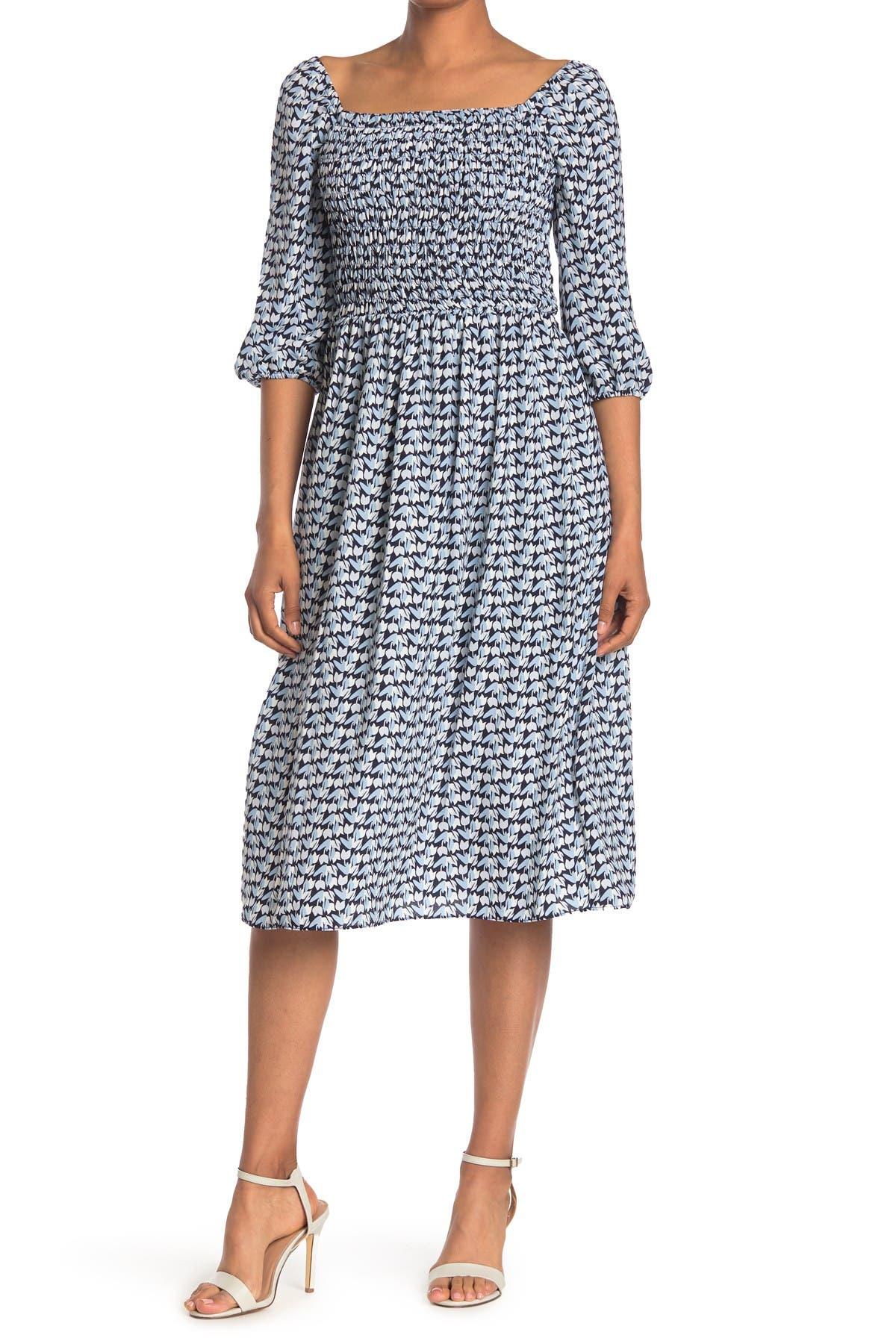 Gabby Skye Womens 3//4 Sleeve V-Neck Floral Print Romper Dress