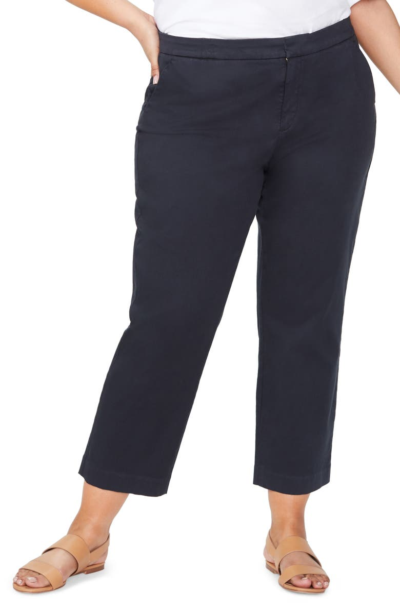 NYDJ Everyday Ankle Trouser Pants, Main, color, BLACK