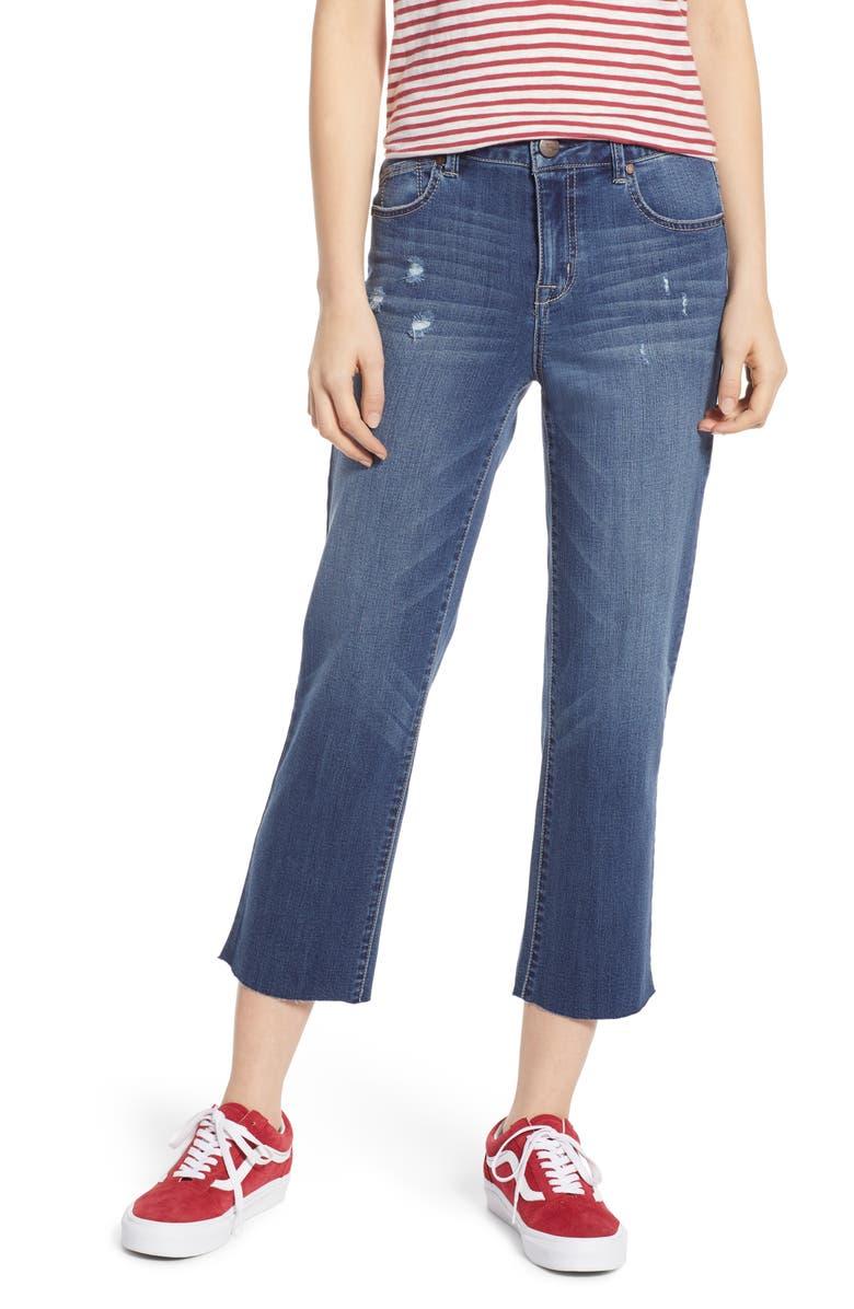 1822 DENIM Straight Leg Crop Jeans, Main, color, THOMAS MEDIUM WASH