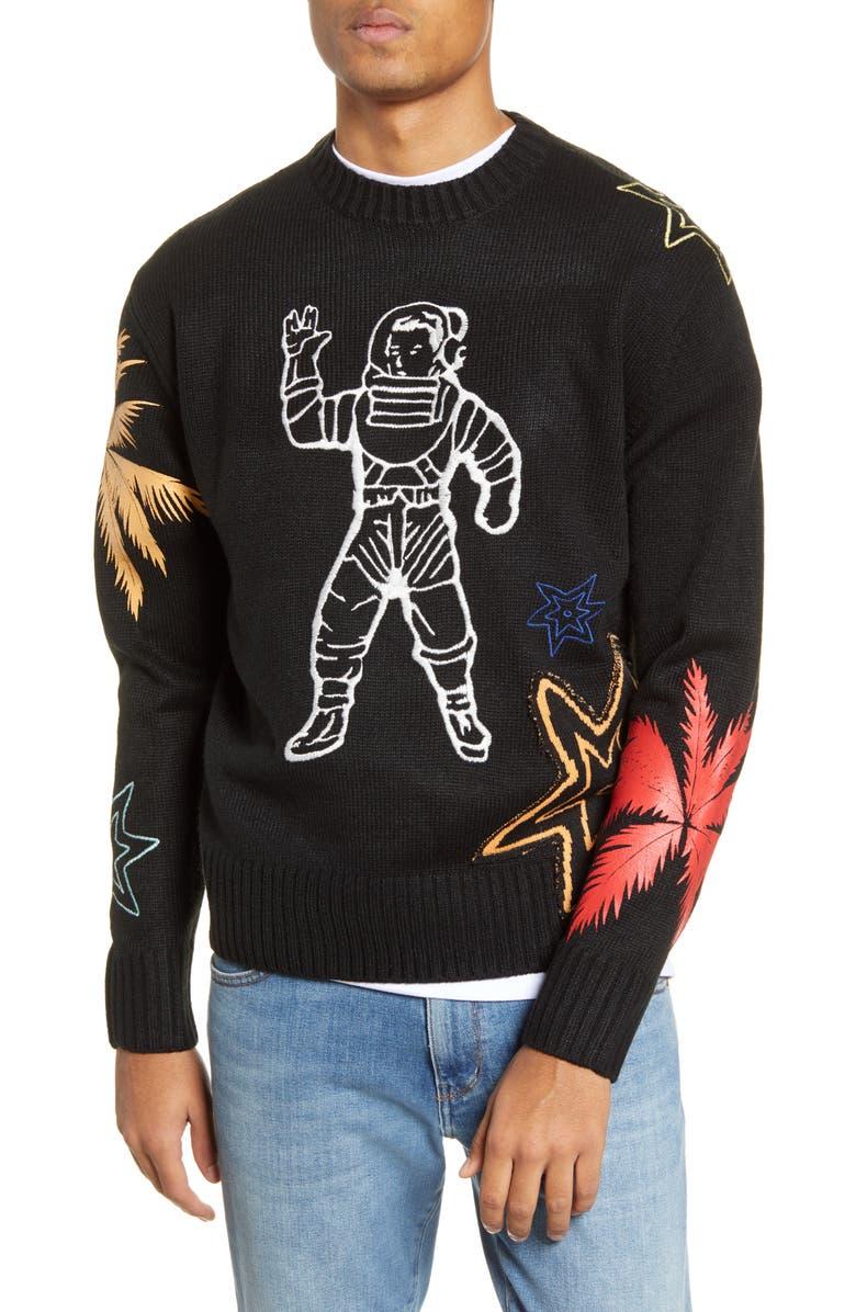 BILLIONAIRE BOYS CLUB Astro Logo Crewneck Sweater, Main, color, 001