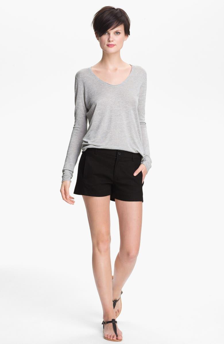VINCE Linen Blend Shorts, Main, color, 001