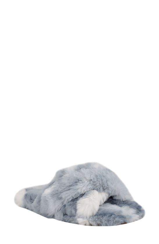 Nine West Women's Cozy Faux Fur Slippers Women's Shoes In Blue Multi