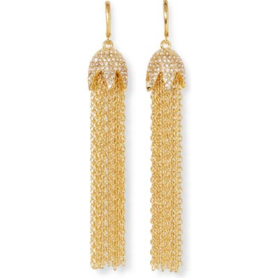 Vince Camuto Pave Chain Earrrings