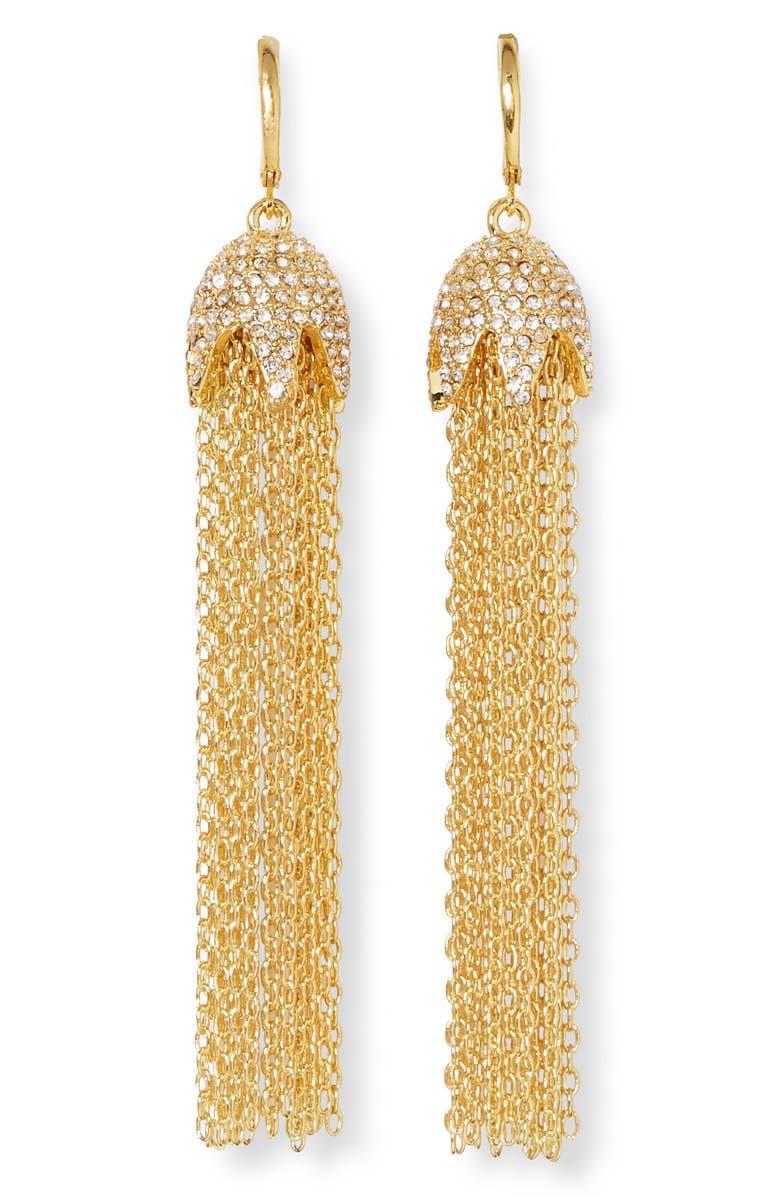 VINCE CAMUTO Pavé Chain Earrrings, Main, color, GOLD