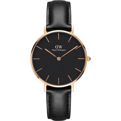 Daniel Wellington Classic Petite Leather Strap Watch, 32Mm