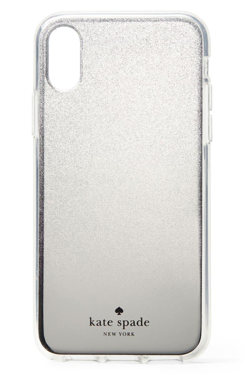 3d9ecfa2875b kate spade new york glitter ombré iPhone X/Xs/Xs Max & XR case ...