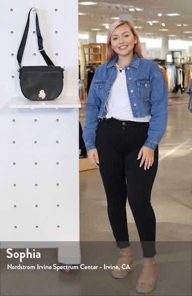 Medium Cavalcade Leather Crossbody Bag, sales video thumbnail