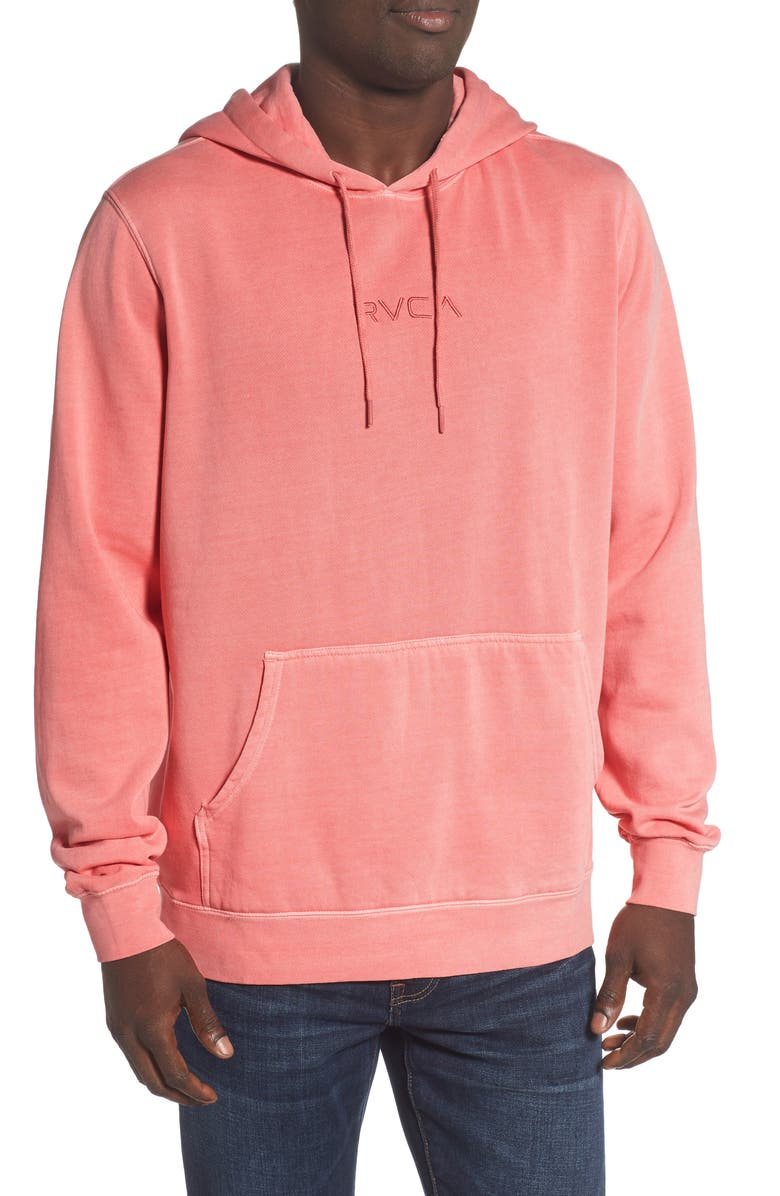 RVCA Little RVCA Tonally Embroidered Hooded Sweatshirt, Main, color, DUSTY ROSE