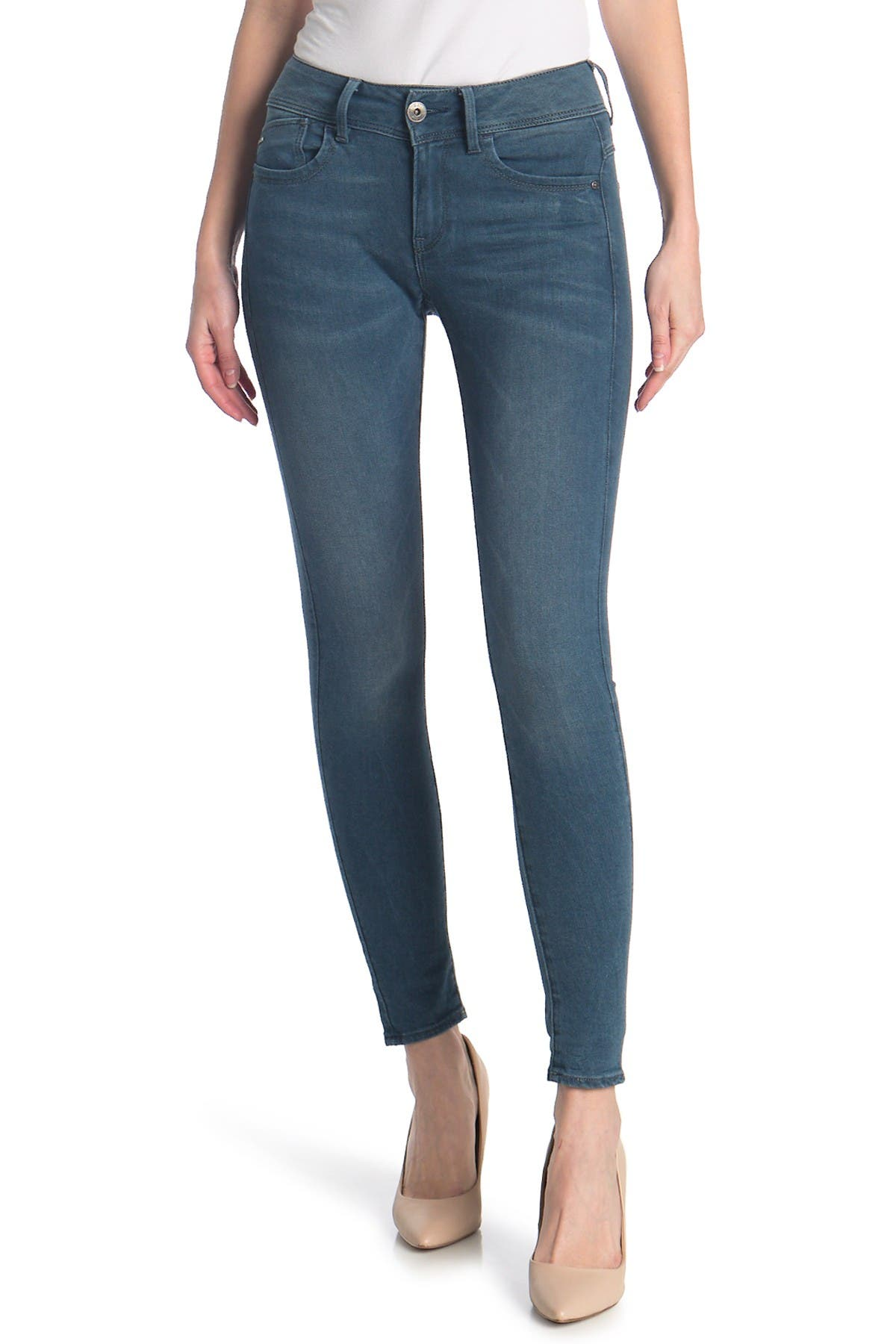 Image of G-STAR RAW Lynn Mid Rise Skinny Jeans