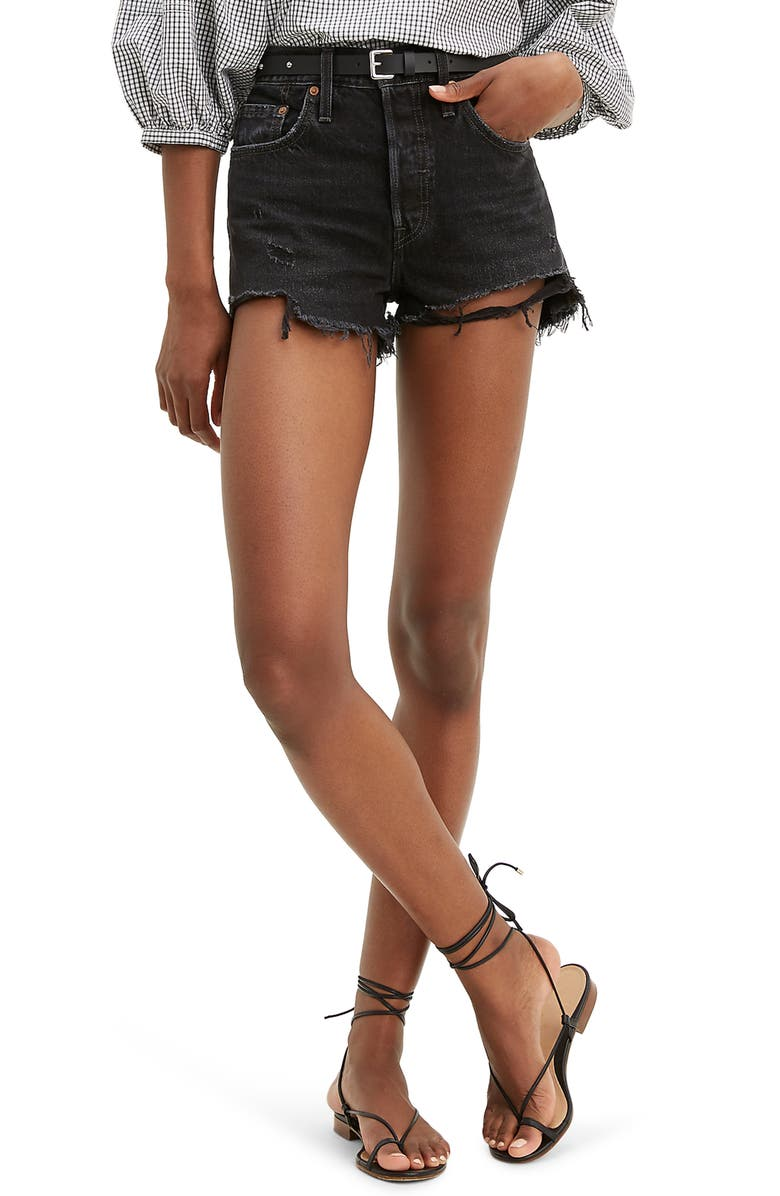 LEVI'S<SUP>®</SUP> 501<sup>®</sup> Original Cutoff Denim Shorts, Main, color, WISE UP