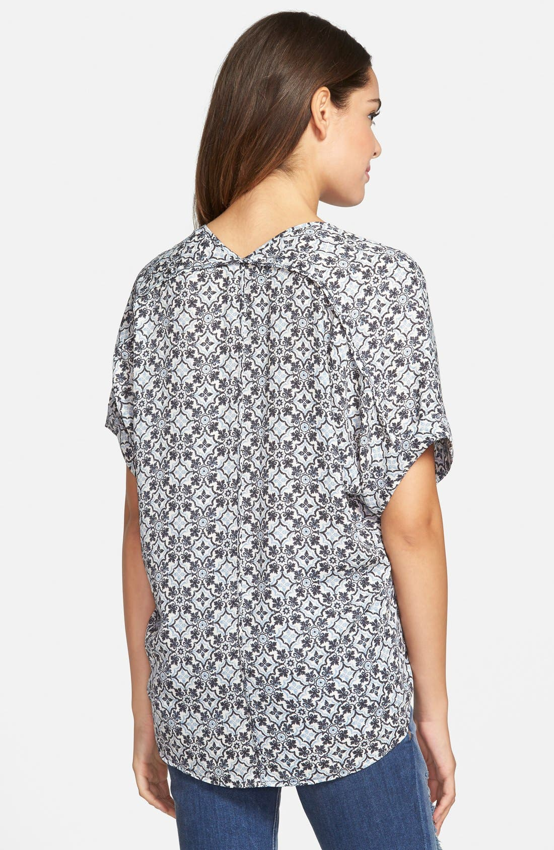 ,                             Lush Cuff Sleeve Woven Tee,                             Alternate thumbnail 89, color,                             408