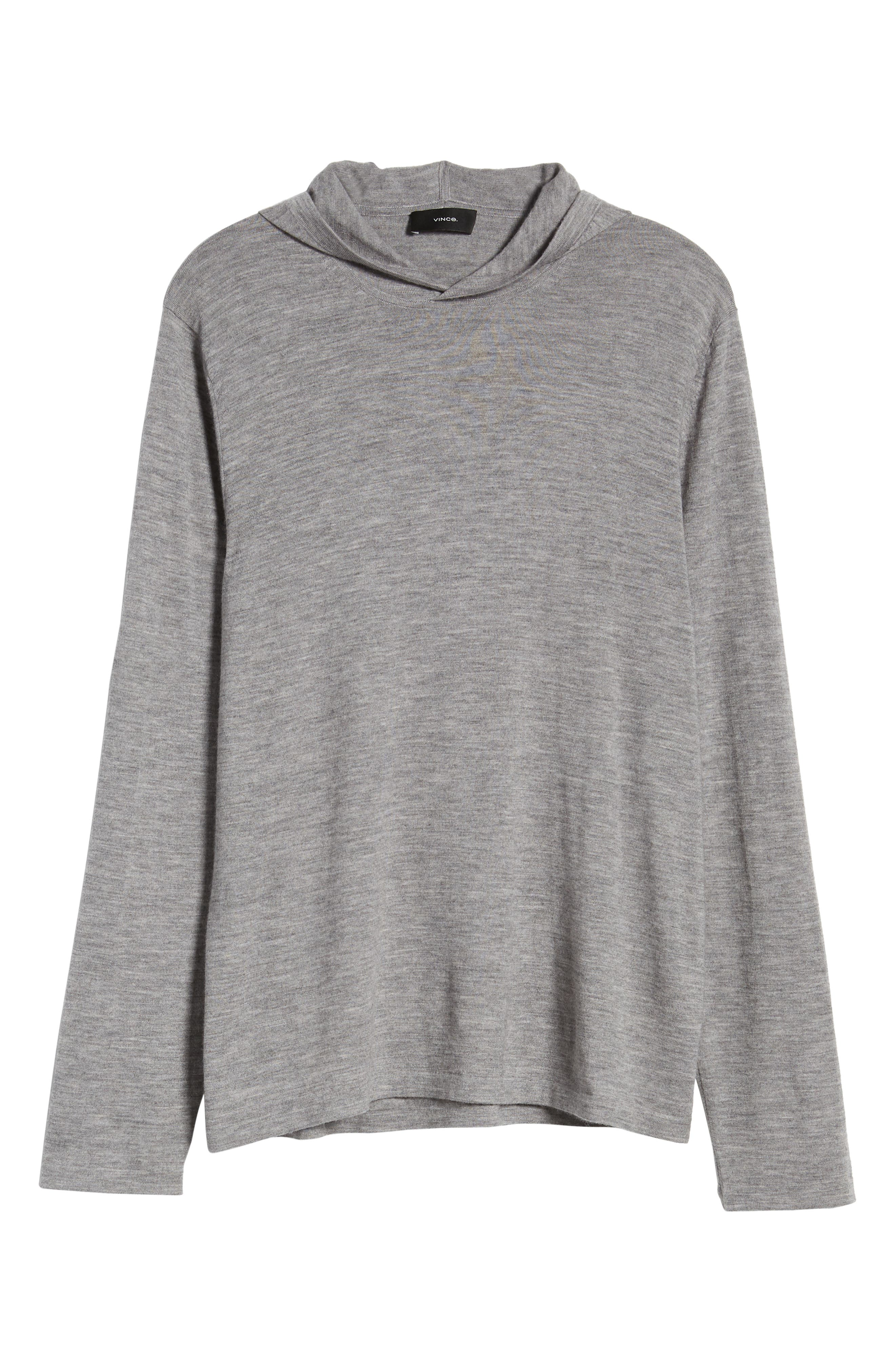 ,                             Wool & Cashmere Pullover Hoodie,                             Alternate thumbnail 6, color,                             H GREY