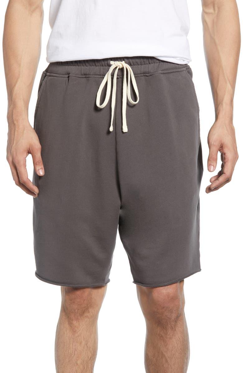 ALLSAINTS Avio Relaxed Knit Cut Off Shorts, Main, color, IRON