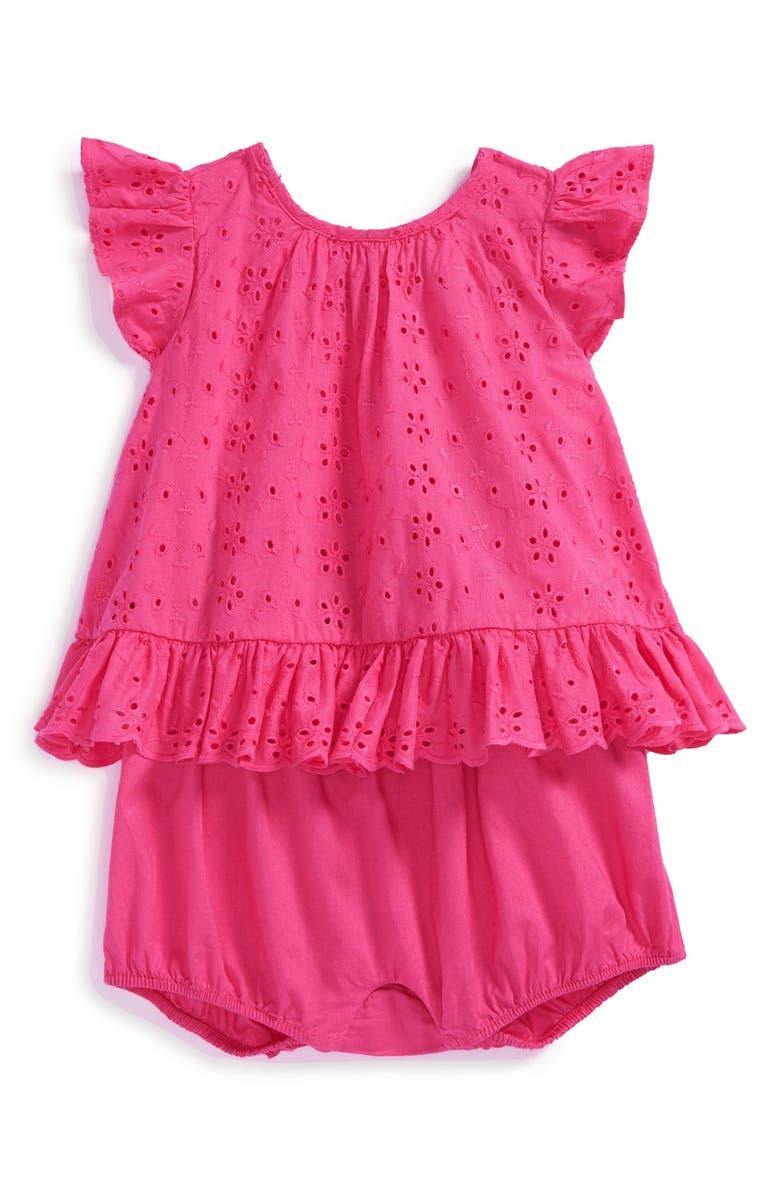 24b75d81 Ralph Lauren Eyelet Cotton Romper (Baby Girls) | Nordstrom